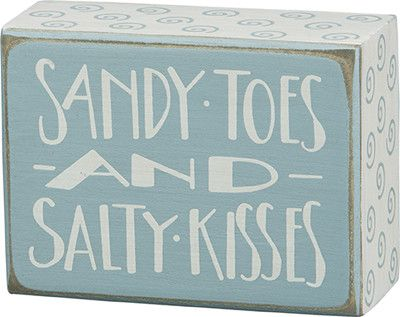 """Box Sign - """"Sandy Toes"""""""