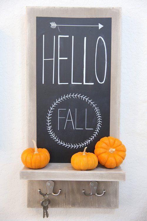 Small Entryway Chalkboard - Fall Decor
