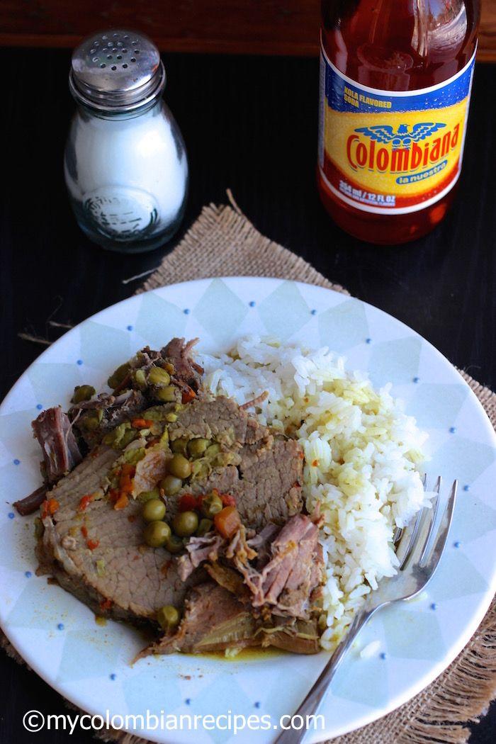Stuffed Beef (Carne o Posta Rellena)|mycolombianrecipes.com