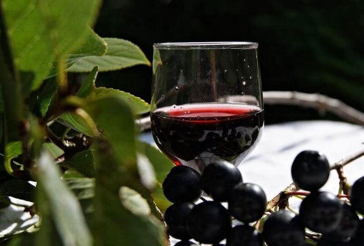 """Рецепты наливок из черноплодной рябины в домашних условиях. Наливка из черноплодной рябины и вишневых листьев, налива """"100 листьев"""", рецепты без кипячения."""