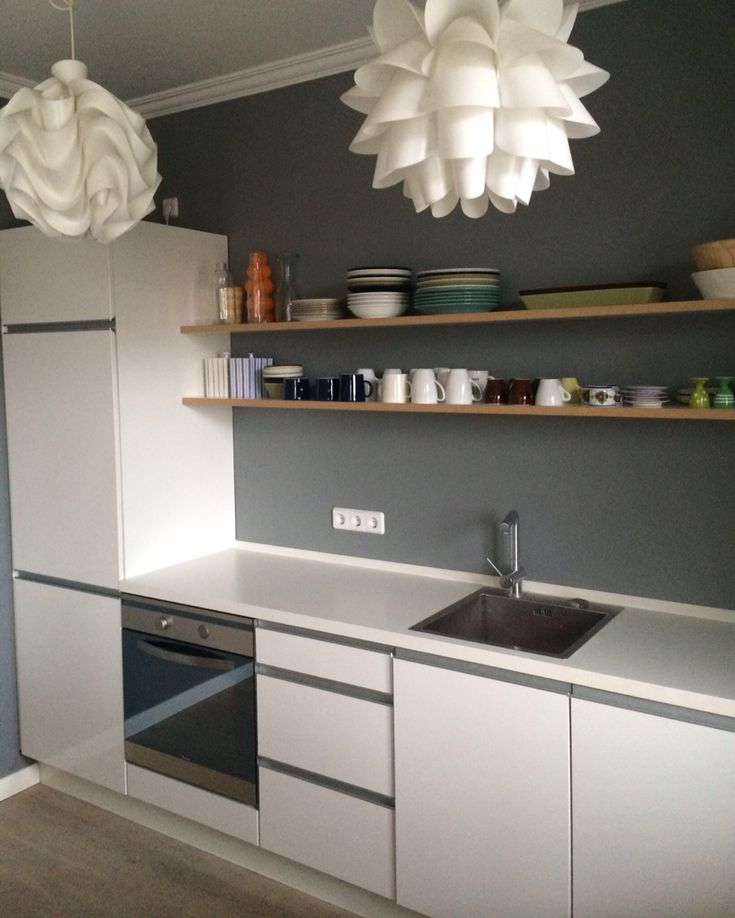 farrow ball plummett kitchen k che grey grau graue. Black Bedroom Furniture Sets. Home Design Ideas