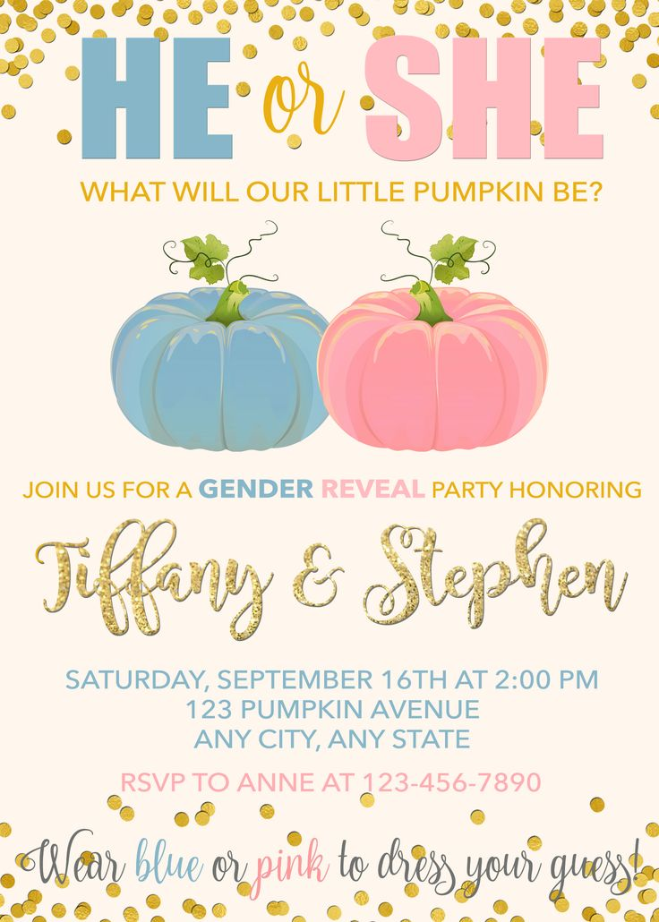 Pumpkin Gender Reveal Invitation, Pumpkin Baby Shower Invitations, Fall Gender Reveal Invitation, Little Pumpkin, He or she Gender Reveal