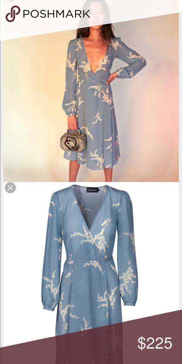 Realisation Par Violette Blue XS Hi all- selling my Realisation Par Violette Blue XS dress - wrap style, silk, in summer loving blue. $185 🅿️ direct plus ship Reformation Dresses