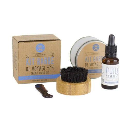 Découvrez le Kit barbe de voyage plus huile a barbe de Big Moustache et lisez les avis sur Lucette.com !