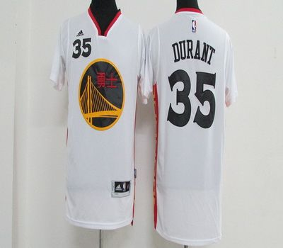 NBA Golden State Warriors 35 Kevin Durant White Chinese New Year Basketball Jerseys