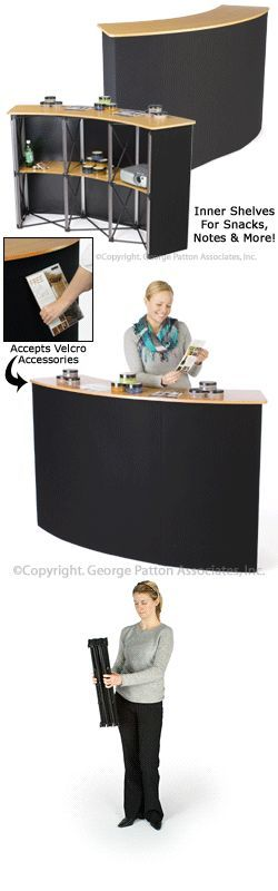 Pop-Up Counter: Is A 5 Foot Wide Trade Show Booth