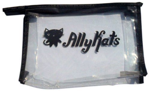 AllyKats Branded Cosmetic Bag by AllyKats. $6.21. Fits all your favorite AllyKats products. Take AllyKats anywhere. Perfect size for bathroom, suitcase or backpack. The perfect size for all your AllyKats cosmetics.  Adorable AllyKats branding with zipper close.  Measures 6 inch x 5 inch x 4 inch.
