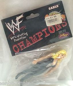 (TAS008044) - WWF WWE WCW Wrestling JusToys Bend-Ems Champions Figure - Sable