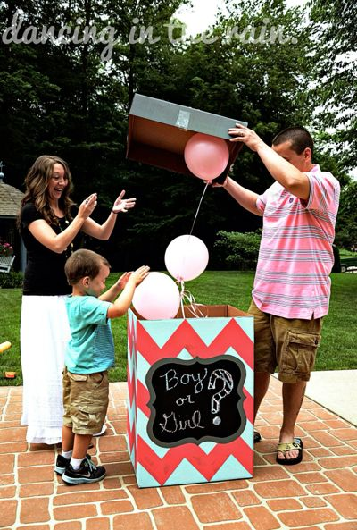"I know a lot of friends feel mixed about doing a ""gender reveal,"" but I still think it's a fun idea for a little child to find out if they're having a new little brother or sister."