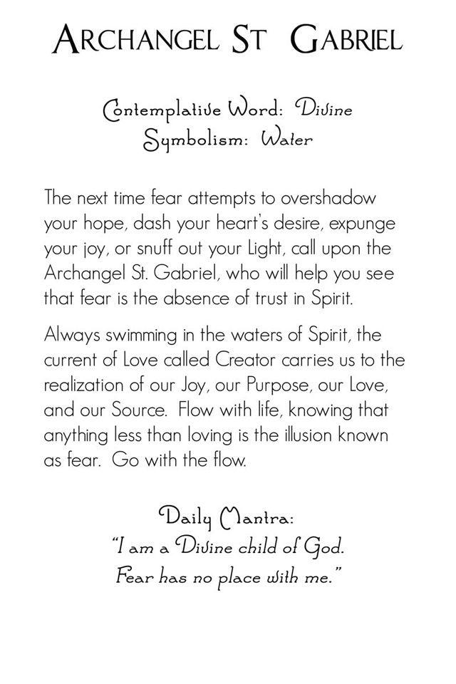 Archangel Gabriel | back | Mystic Angels Oracle 22