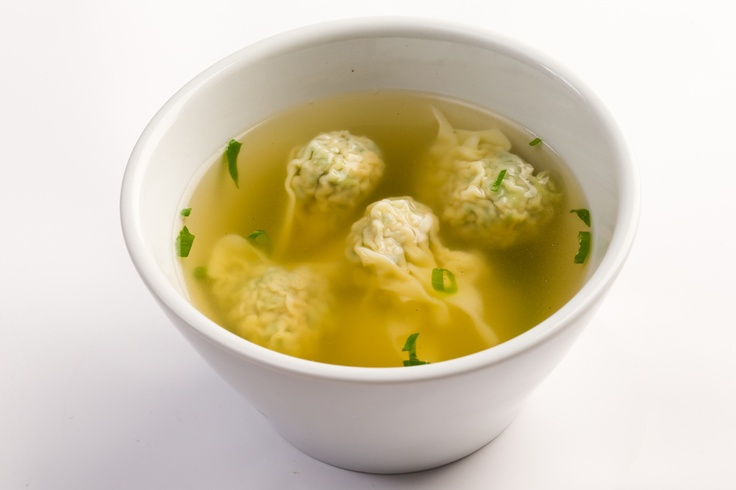 Pork and vegetables wonton soup.