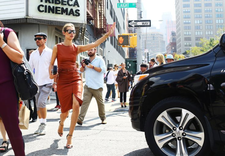 The 15 Best Street-Style Looks of Fashion Month – Vogue, leather skirt 2015