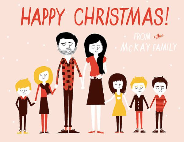 Creative Christmas Card Ideas | illustrated christmas cards...I would love to try this