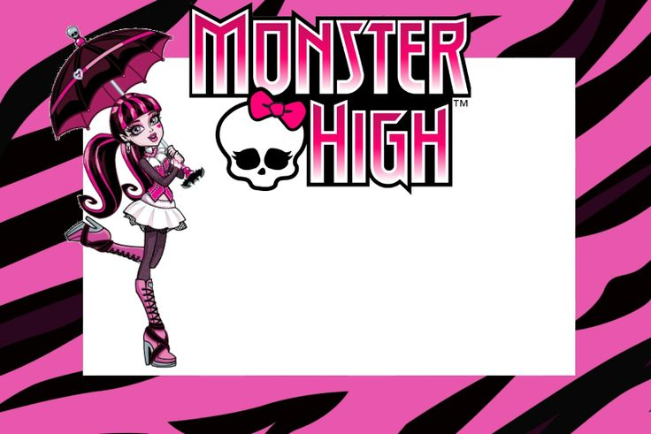 Fazendo a Minha Festa!: Monster High - Kit Completo com molduras para convites, rótulos para guloseimas, lembrancinhas e imagens!: Free The, Invitation To, Parties, De Monsters, Party, Monster High, Imprimir Free, Of Invitation, Monsters High