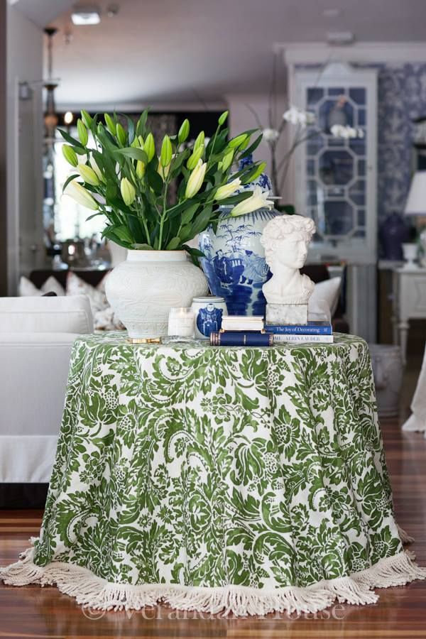 House Beautiful    The skirted table is next on my list of House Beautiful's list of beautiful home essentials. I have included it because...