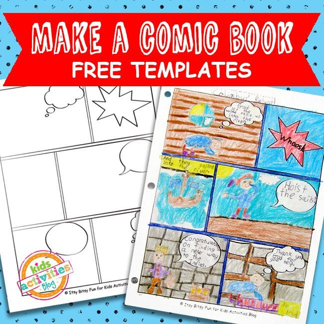 Comic Book Comic Strip Template Project Kindergarten Pinterest