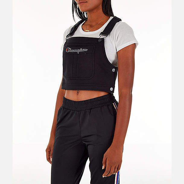 Champion Women S Superfleece Overall Bib Crop Top Overalls Women Crop Top Outfits Casual Outfits