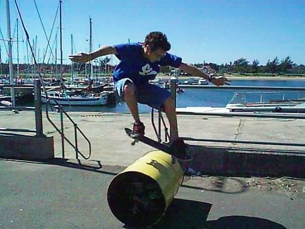 #throwback to a much younger @deon_vdm hitting the harbour in Richards Bay with a fresh barrel pop.  #csskateshop x #throwbackthursday