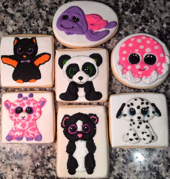 Hey, I found this really awesome Etsy listing at https://www.etsy.com/listing/252360355/beanie-boo-decorated-cookies