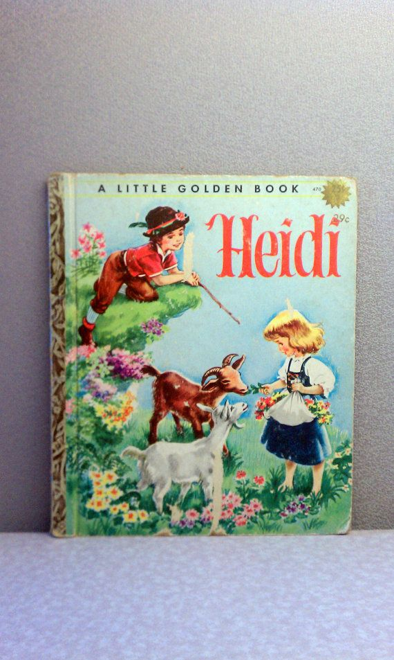 "Vintage Children's Book - Heidi Little Golden Book  Use promo code ""SATISFACTION"" for 20% off!"