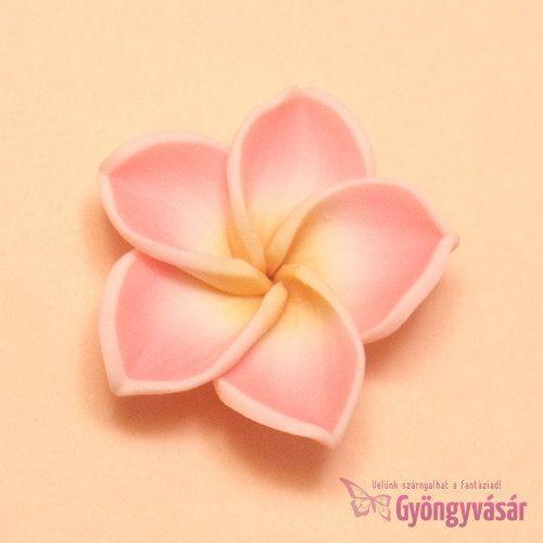 Barackrózsaszín hawaii rózsa - gyurma gyöngy • Gyöngyvásár.hu