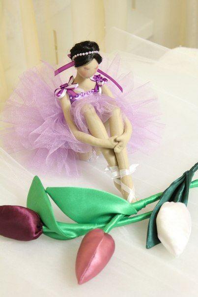 Handmade art doll Ballerina amazing Look at by uniquehandmadedolls