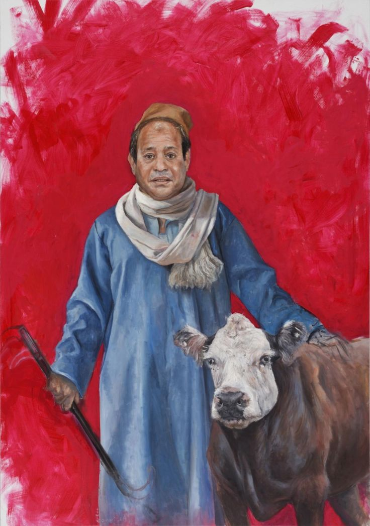 Abdalla Al Omari's 'Abdelfattah,' depicting President of Egypt Abdel Fattah el-Sisi, from 'The Vulnerability Series.'