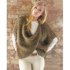 modèle à tricoter gratuit Chauffe épaule Laine Katia Alpacotton