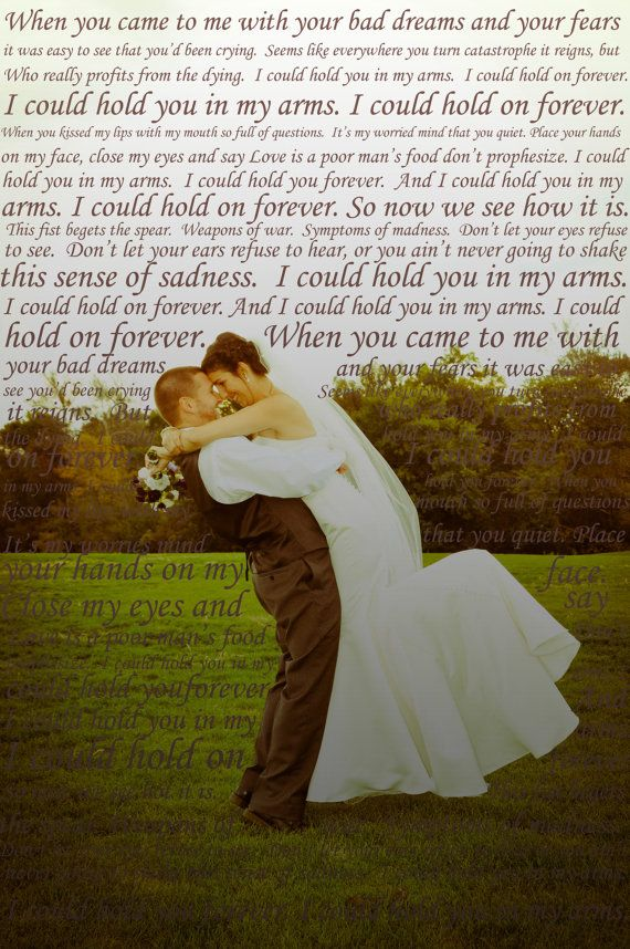 First Dance Lyrics on Photo of Your Choice. $15.00, via Etsy. Love this!