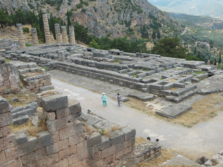 Apollo's Temple Ruins Delphi, Greece