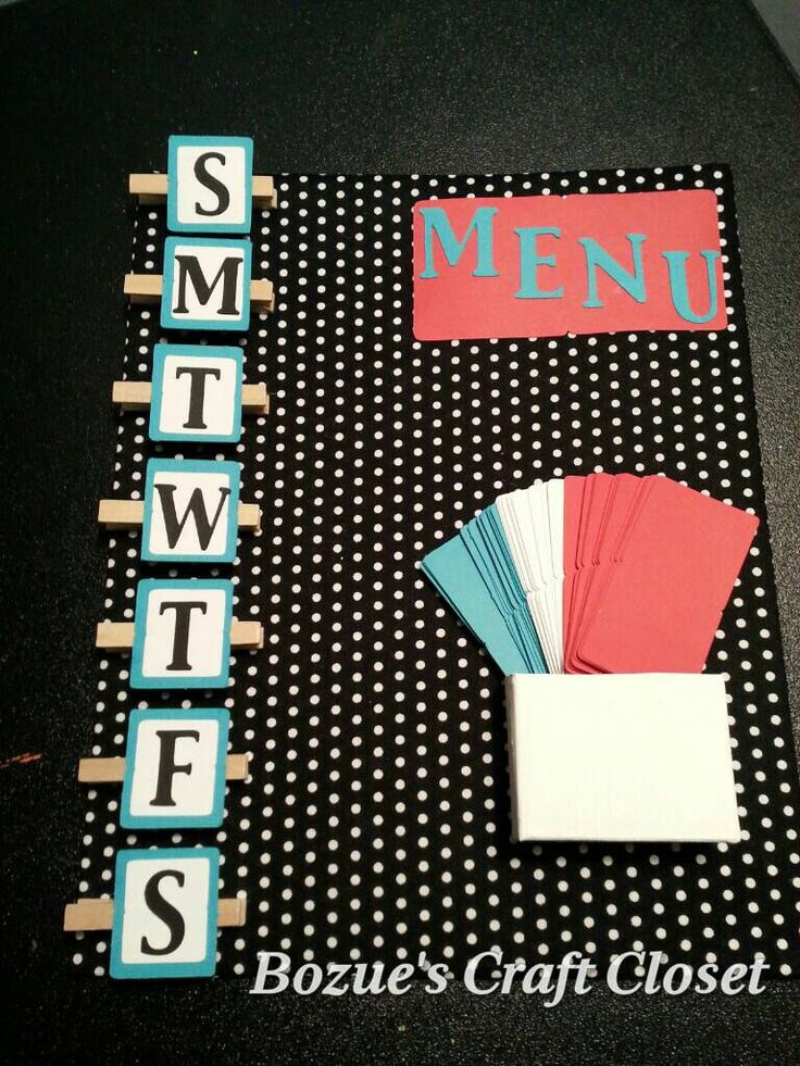 Magnetic Menu Board, polka dot decor, polka dot kitchen decor, weekly menu board, family meal planner, what's for dinner, Mother's day gift by BozuesCraftCloset on Etsy https://www.etsy.com/listing/218952798/magnetic-menu-board-polka-dot-decor