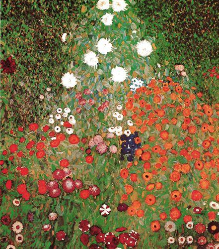 Flowery Garden Art Print by Gustav Klimt kingandmcgaw.com #landscape #Artprint #Artposter #Art #Poster #Print