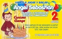 Invitaciones de cumpleaños de Jorge el Curioso 2 Gratis