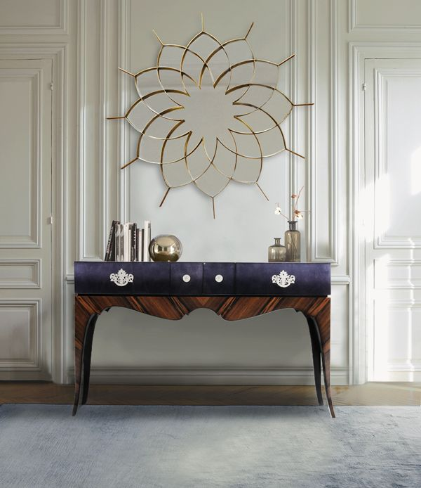 Queenly Mirror and Reflection Console www.bateye.com #bateye #bateyecollection #bateyepieces #luxury #luxuryfurniture