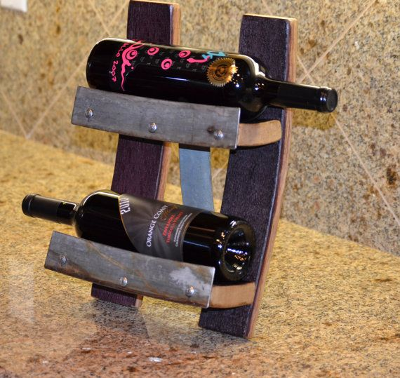 Table top wine bottle display by WineyGuys on Etsy