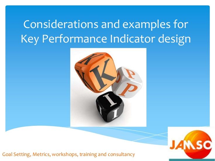 Slideshare: Considerations and examples for key performance indicators design  #metrics #kpi