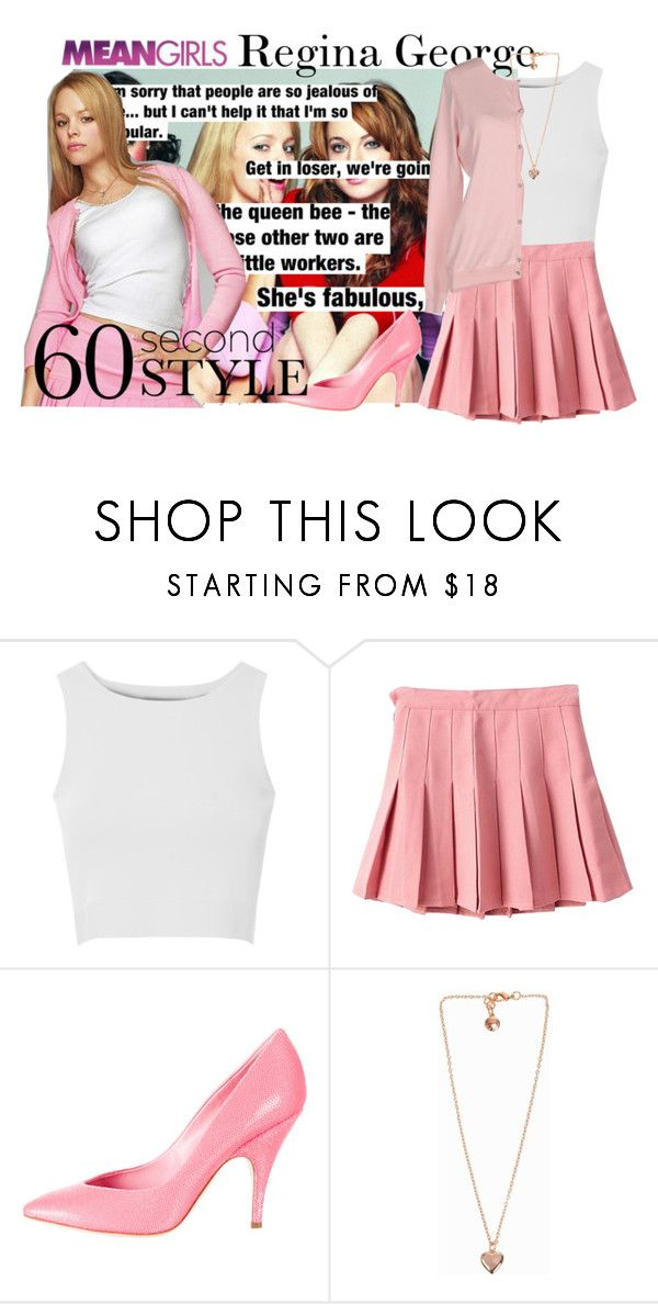 """""""Last Minute Costume: Regina George"""" by amazing-abby ❤ liked on Polyvore featuring GRETCHEN, George, Glamorous, Moschino, Snö Of Sweden and Maison Espin"""