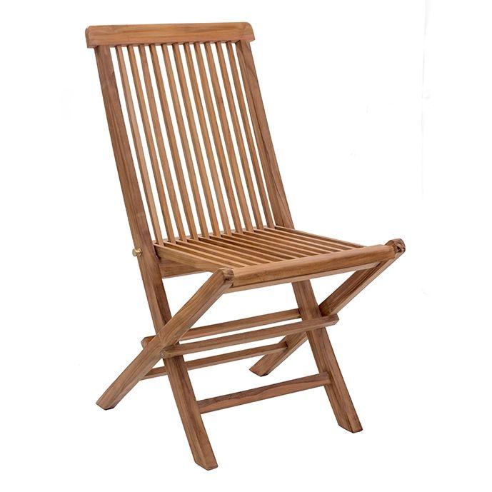 Regatta Modern Outdoor Folding Chair Natural