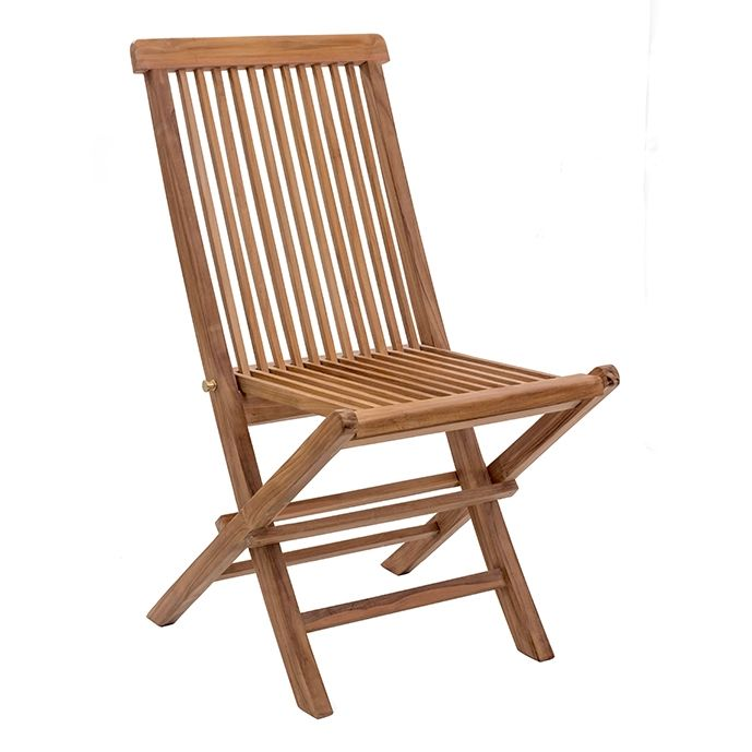 Regatta Modern Outdoor Folding Chair Natural