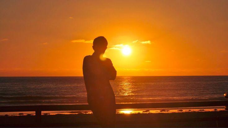Pasifik Sahili-Günbatımı Manzarası