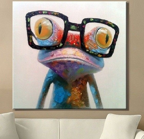 "Canvas Art ""The Nerdy Frog"""