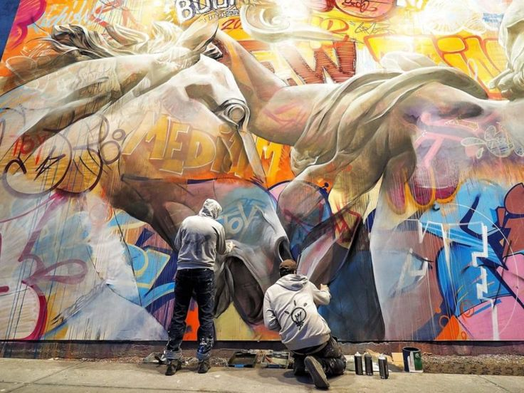 PICHI & AVO  .. on Houston Bowery Graffiti Wall ..  [New York, USA 2017*] (at work)
