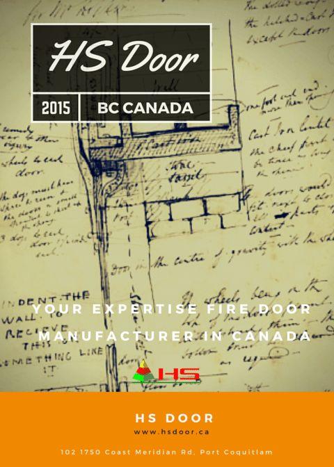HS Door 2015 BC CANADA Your expertise fire door manufacturer in can...
