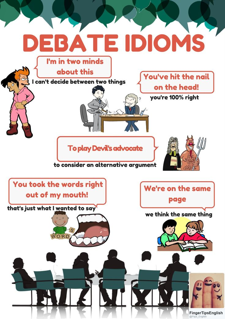 English expressions to use in debates