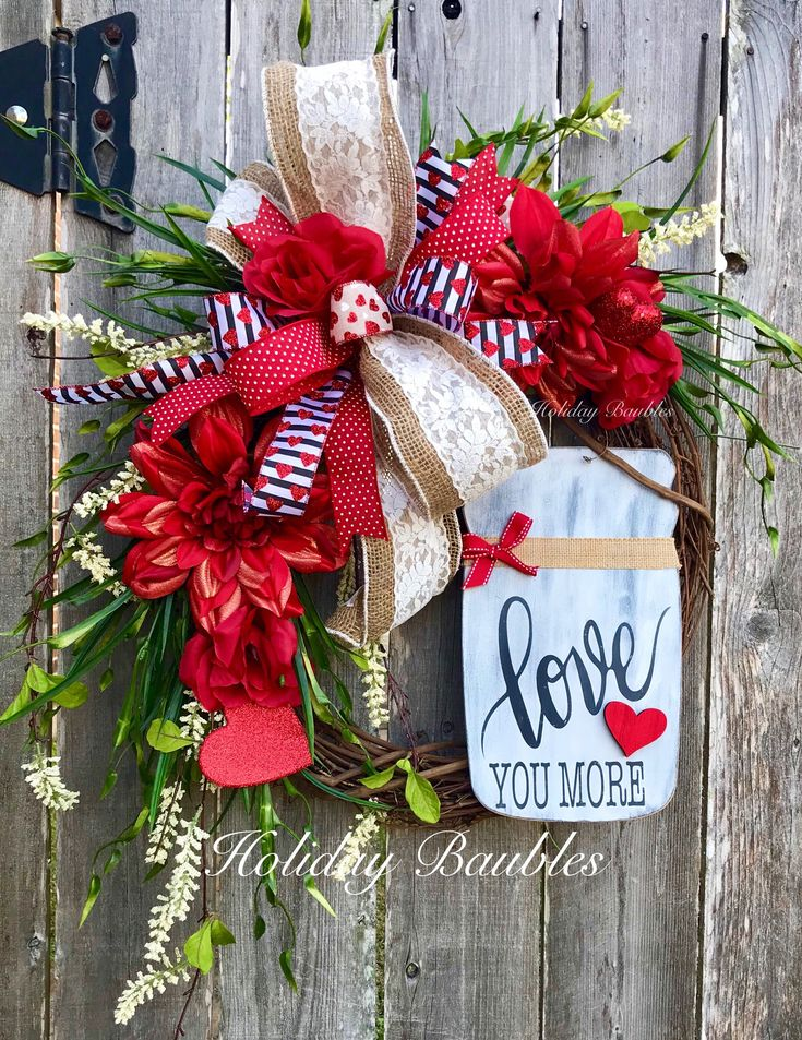 A personal favorite from my Etsy shop https://www.etsy.com/listing/570293036/valentines-day-wreath-valentine-mason