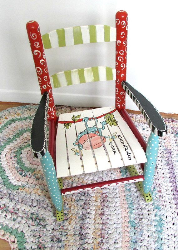 Painted Child Rocking Chair - Painted - Furniture - Baby Shower Gift - Baby on Etsy, $150.00
