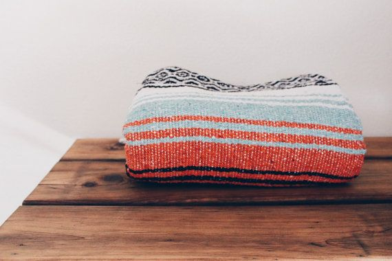 MEXICAN BLANKET // beach yoga adventure blanket by SonoranSupplyCo