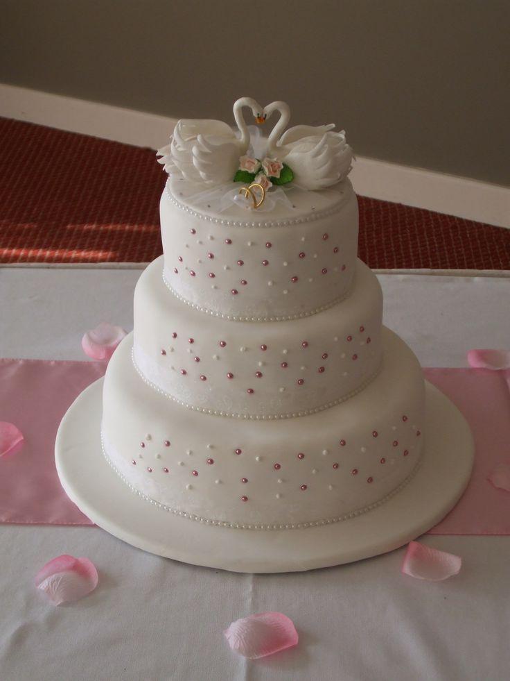 Swan Lake Wedding Cake (Front)