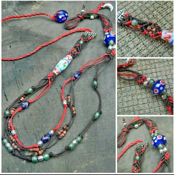 Macrame and java beads.. the colors, what do you think?