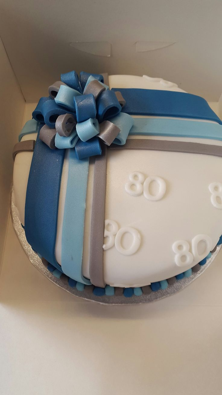 Mens 80th Birthday Cake